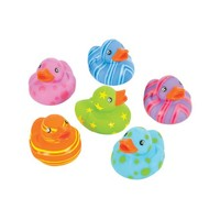 Toy Multi Colored Patterned Rubber Ducks Bath Set Of 12 - Walmart.com