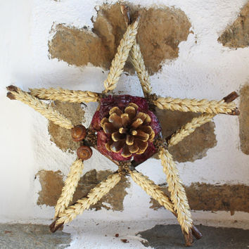 OOAK, Christmas Tree Topper, Christmas Tree Decor, Winter Forest, Christmas Star, Rustic Holiday Decor, Cabin Style, Holiday Home Decor,