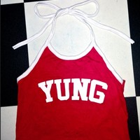 SWEET LORD O'MIGHTY! YUNG HALTER IN RED