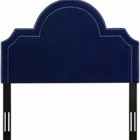 Laylah Twin Headboard in Pebbled Velvet
