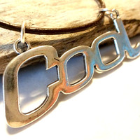 Cool Connector Pendant Leather Choker Necklace, Cool Hippie Jewelry