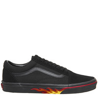 Vans Old Skool Trainers Black Flame Wall - Unisex Sports