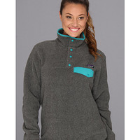 Patagonia Lightweight Synchilla® Snap-T® Pullover Nickel/Teal Green - Zappos.com Free Shipping BOTH Ways