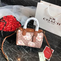 Coach Women Leather Shoulder Bag Satchel Tote Handbag Shopping Leather Tote Crossbody Satchel Shoulder Bag