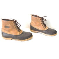 size 8 SOREL duck boots / vintage LL bean style insulated HUNTER woodland winter boots
