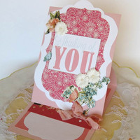 Thinking of You Card, Paper Handmade Greeting Card, Sympathy Card, Encouragement Card, Mother's Day Card, 3D pop up card