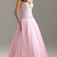 UK Long Pink Tailor Made Evening Prom Dress (LFNAI0011) cheap online-MarieProm UK