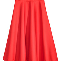 Satin skirt - Bright red - Ladies | H&M GB