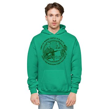 I Want Gay Married Couples To Protect Their Marijuana Plants With Guns Unisex fleece hoodie