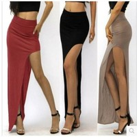 Hot Sale Sexy High Rise Side Slits Prom Dress [6085938625]