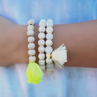 Triple Up Bracelet - Neon Yellow