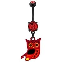 Devilish Owl Belly Button Ring