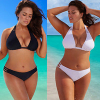 Plus Size Low Waist Push Up Swimsuit