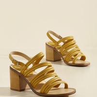 Heel Me Out Sandal in Sunflower