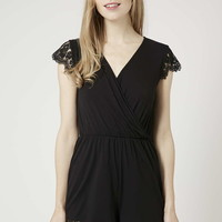TALL Lace Sleeve Playsuit - Topshop