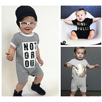 fashion boy's Short Sleeve Romper born Baby Girl Clothes Outfit kids clothes children clothing