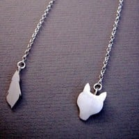 Fox Stole Silver Necklace by bbel on Etsy