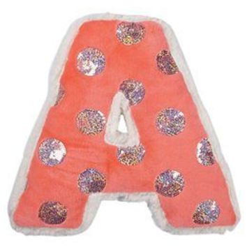 Sequin Dots Initial Pillow | Girls Decor & Accessories Room | Shop Justice