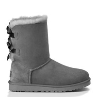 UGG Australia Womens Bailey Bow Grey Boot - 7