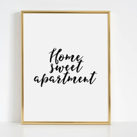 Home Sweet Home Floral Art Print Hallway Decor Floral Wall Art Apartment Decor Printable Quote Quotes Print Typographic Print Gift Idea