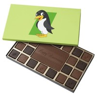 Cute penguin cartoon 45 piece assorted chocolate box