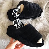 UGG autumn and winter tide brand women's plush warm outside wearing sandals 4#