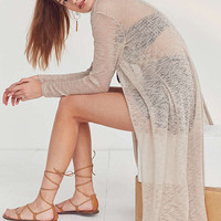 Silence + Noise Split Back Maxi Cardigan | Urban Outfitters