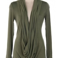 Ava Top Olive for $36.00 - Trendy Womens Fashion SALE - KrisandKate.com