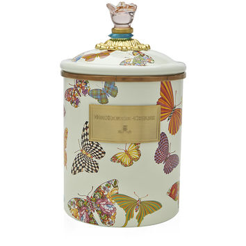 MacKenzie Childs Butterfly Garden Canister (Medium)
