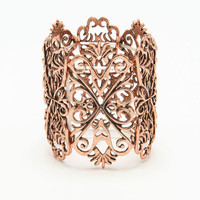 COPPER BAROQUE BANGLE