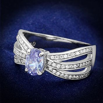 925 Silver Ring TS265 Rhodium 925 Sterling Silver Ring with AAA Grade CZ