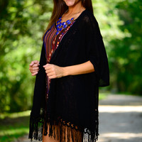 The Lilly Cardigan, Black
