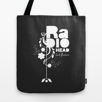 Radiohead song - Last flowers illustration white Tote Bag by LilaVert | Society6