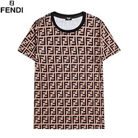 Fendi short-sleeved full-body FENDI LOGO printing fashion men's and women's T-shirt