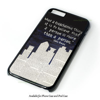 John Green Paper Towns Quotes Cover Design for iPhone and iPod Touch Case