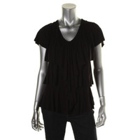 Style & Co. Womens Jersey V-Neck Pullover Top