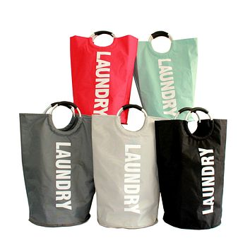 Oxford Cloth Laundry Laundry Bag To Receive Bag Fabric Super Folding Laundry Basket
