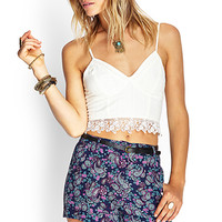 FOREVER 21 Paisley Print Woven Shorts