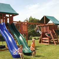Kid's Creations Midway Redwood Swing Set