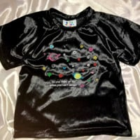 SWEET LORD O'MIGHTY! DO YOU THINK OF ME VELVET CROP TEE