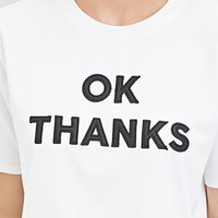 Thanks Graphic Tee - NEW ARRIVALS - 2000164447 - Forever 21 UK