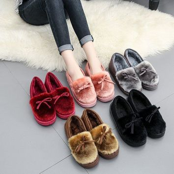 New Elegant Comfortable Causal Lovely Shoes Tods Winter Korean Loafer Shoes [11882771023]