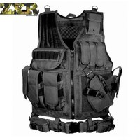 Zuoxiangru Unloading Tactical Men Combat Vest Tactical Army Military Fans Camouflage Vest Body Cs Jungle Equipment