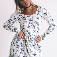 Soft Side Long Sleeve Floral Dress