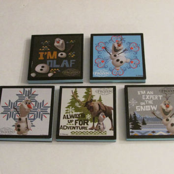 Disney Frozen Olaf Note Pads Set of 6 - Excellent Party Favors - Olaf - Sven - Stocking Stuffers