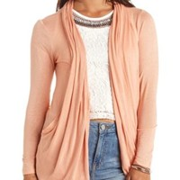 Long Sleeve Draped Cocoon Cardigan by Charlotte Russe