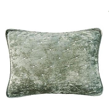 Tache Velvet Dreams Light Green Plush Diamond Tufted Pillow Sham (JHW-853G)