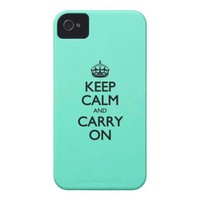Acid Keep Calm And Carry On Mint Green iPhone 4 Case-Mate Cases from Zazzle.com