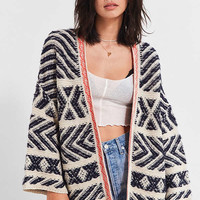 UO Festival Contrast Trim Cardigan   Urban Outfitters