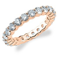 18K Rose Gold Diamond 4 Prong Eternity Ring (3 cttw, G-H Color...